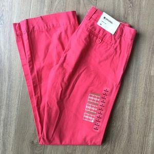 NWT Gap Original Boy Cut low waist coral pants 4